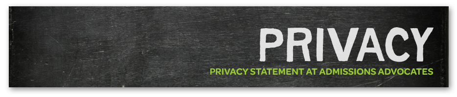 Privacy Statement at Admissions Advocates